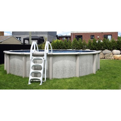 QCA-Spas-217PD2452-Parthenon-Deluxe-24-Feet-Round-and-52-Inch-Above-Ground-Pool-with-Blue-Overlap-Liner-0