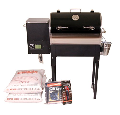 REC-TEC-Grills-Trailblazer-RT-340-Bundle-Wifi-Enabled-Portable-Wood-Pellet-Grill-Built-in-Meat-Probes-Stainless-Steel-15lb-Hopper-2-Year-Warranty-Hotflash-Ceramic-Ignition-System-0