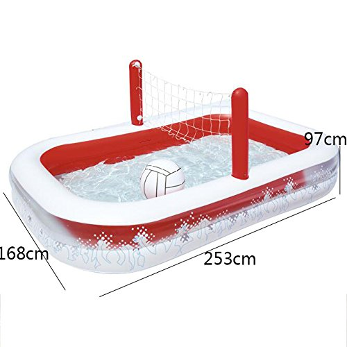 Rectangular-Inflatable-Family-Pool-Large-Luxury-Folding-Tub-Garden-Outdoor-Football-Play-Pool-Paddling-Pool-2-Ring-25316897cm-Red-White-0-0