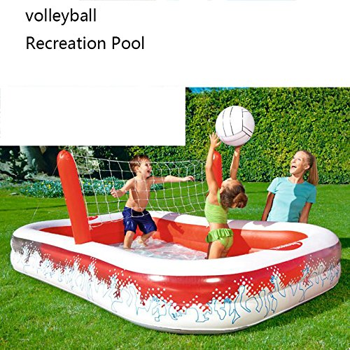 Rectangular-Inflatable-Family-Pool-Large-Luxury-Folding-Tub-Garden-Outdoor-Football-Play-Pool-Paddling-Pool-2-Ring-25316897cm-Red-White-0-1