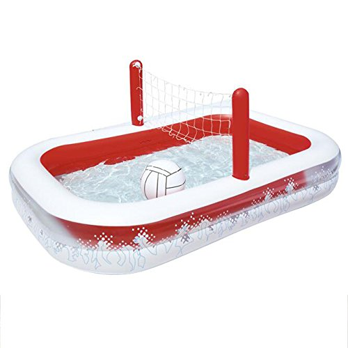 Rectangular-Inflatable-Family-Pool-Large-Luxury-Folding-Tub-Garden-Outdoor-Football-Play-Pool-Paddling-Pool-2-Ring-25316897cm-Red-White-0