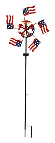 Red-Carpet-Studios-Metal-Yard-Stake-Wind-Spinner-with-Solar-Powered-Lights-American-Flag-0
