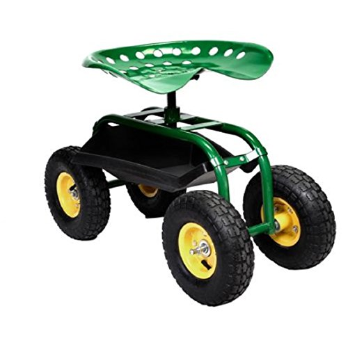 Rolling-Garden-Cart-Work-Seat-with-Heavy-Duty-Tool-Tray-Gardening-Planting-Green-0-2