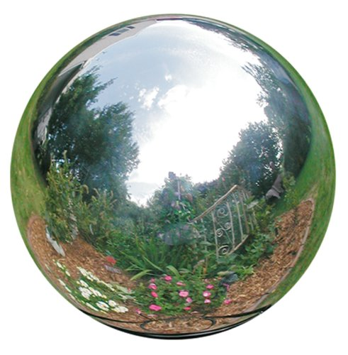 Rome-704-S-Silver-Stainless-Steel-Gazing-Globe-Polished-Stainless-Steel-4-Inch-Diameter-0