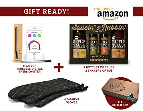 Rufus-Teague-House-Warming-Barbecue-Gift-Set-Including-One-Meater-Wireless-Thermometer-BBQ-Sauce-Gift-Pack-and-Extra-Large-BBQ-Gloves-Great-Welcome-Home-Gift-Amazon-Exclusive-Limited-Availability-0