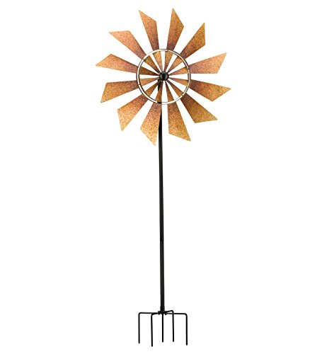 Rustic-Turbines-Double-Rotating-Metal-Kinetic-Garden-Stake-Wind-Spinner-0-0