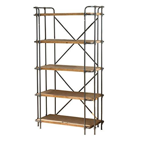 SOHO-Antique-Finish-Outdoor-Iron-5-Shelf-Bookcase-0-2