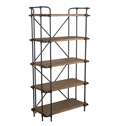 SOHO-Antique-Finish-Outdoor-Iron-5-Shelf-Bookcase-0