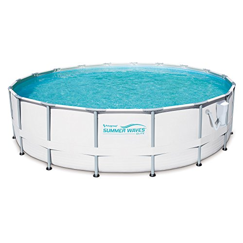 SUMMER-WAVES-Elite-18-Foot-Frame-Pool-Set-with-Filter-Pump-12-Filter-Cartridges-Type-VII-Type-D-0-1