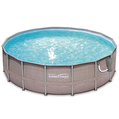 SUMMER-WAVES-Elite-Wicker-Print-16-x-48-Above-Ground-Frame-Pool-Set-w-Pump-0