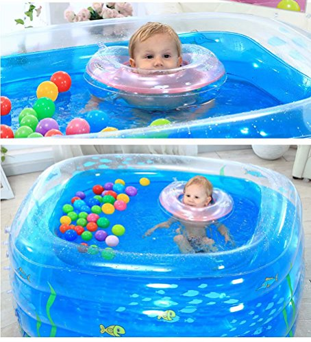 SYHY-4-Ring-Transparent-blue-Children-inflatable-pool-baby-paddling-pool-children-family-inflatable-pool-bath-tub-Pool14011070cm-0-0