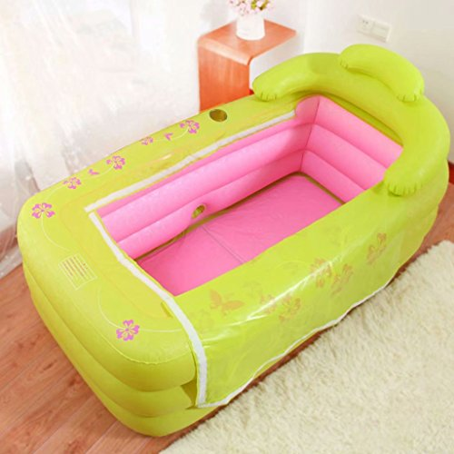 SYHY-Inflatable-Pool-Bathtub-Thicken-Adult-Bathtub-Folding-Bathtub-Bathtub-Bathewith-Pillowpink-0-0