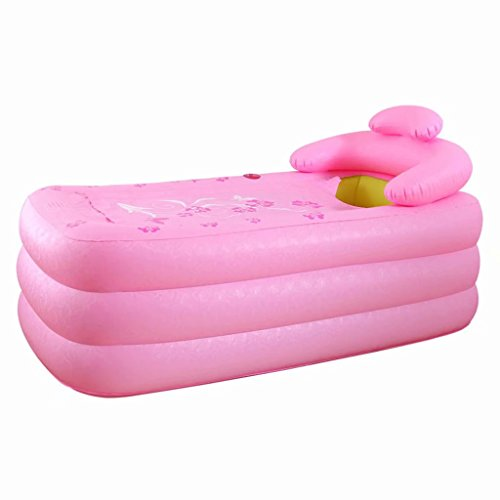 SYHY-Inflatable-Pool-Bathtub-Thicken-Adult-Bathtub-Folding-Bathtub-Bathtub-Bathewith-Pillowpink-0-1