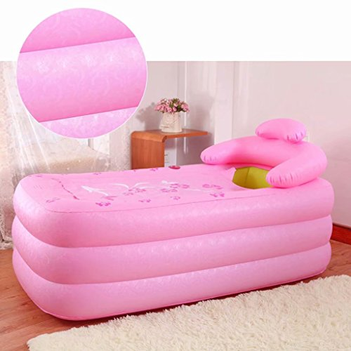 SYHY-Inflatable-Pool-Bathtub-Thicken-Adult-Bathtub-Folding-Bathtub-Bathtub-Bathewith-Pillowpink-0-2