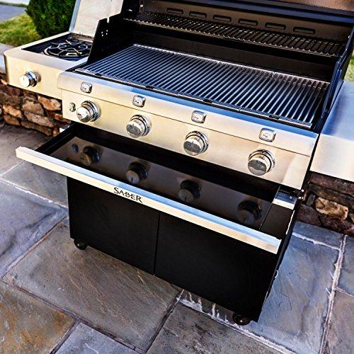 Saber-Grills-R67CC1117-Cast-Black-4-Burner-Cart-0-2