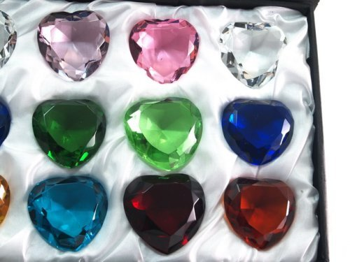 Sapphire-Amber-Emerald-Crystal-Heart-Diamond-Set-of-12-40mm-0-0