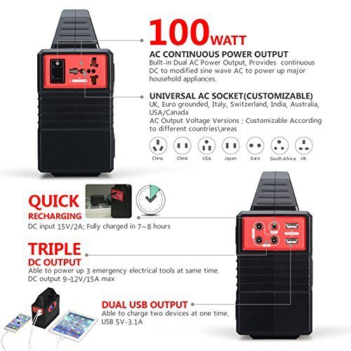 Smartbox-Powerful-Solar-Generator-Portable-Power-Charging-Station-With-Multiple-USB-AC-Outlets100-Watt-Emergency-Solar-Battery-Charger-With-Ultra-Bright-LED-Light-For-Outdoor-Activities-0-0