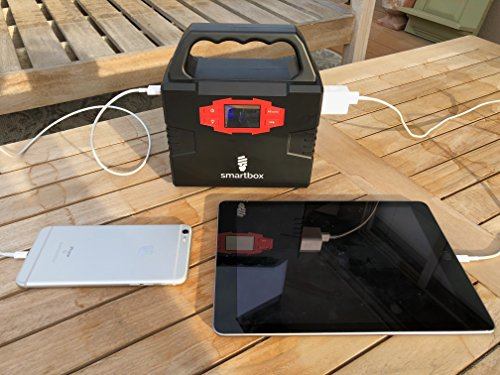 Smartbox-Powerful-Solar-Generator-Portable-Power-Charging-Station-With-Multiple-USB-AC-Outlets100-Watt-Emergency-Solar-Battery-Charger-With-Ultra-Bright-LED-Light-For-Outdoor-Activities-0-2