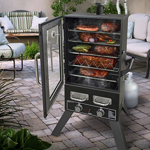 Smoke-Hollow-PS4415-Pro-Series-Propane-Smoker-33-x-245-x-60-Black-0-1