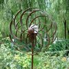 Solar-Wind-Spinner-Multi-Color-LED-Light-Solar-Powered-Glass-Ball-with-Kinetic-Wind-Spinner-Dual-Direction-for-Outside-Vertical-Metal-Sculpture-Stake-Construction-for-Outdoor-Yard-Lawn-Garden-0-0