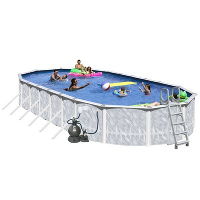 Splash-Pools-Round-Deluxe-Pool-Package-18-Feet-by-52-Inch-0