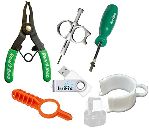 Sprinkler-Irrigation-Adjustment-Tool-Set-by-IrriFix-Rain-Bird-Spray-Head-Pull-Up-Tool-HunterOrbit-gear-drive-tool-ROTORTOOL-MP-Rotator-Tool-Hold-Up-Collar-IrriFix-USB-Flash-Drive-w-instructions-0