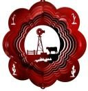 Stainless-Steel-Windmill-Cow-12-Inch-Wind-Spinner-Red-0