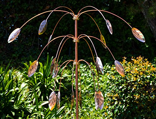 Stanwood-Wind-Sculpture-Kinetic-Copper-Triple-Spinner-Falling-Foliage-0-1