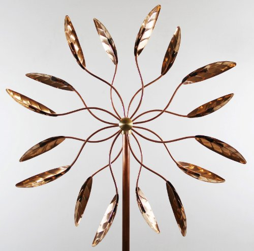 Stanwood-Wind-Sculpture-Kinetic-Copper-Wind-Sculpture-Dual-Spinner-Spinning-Ficus-Leaves-0-0