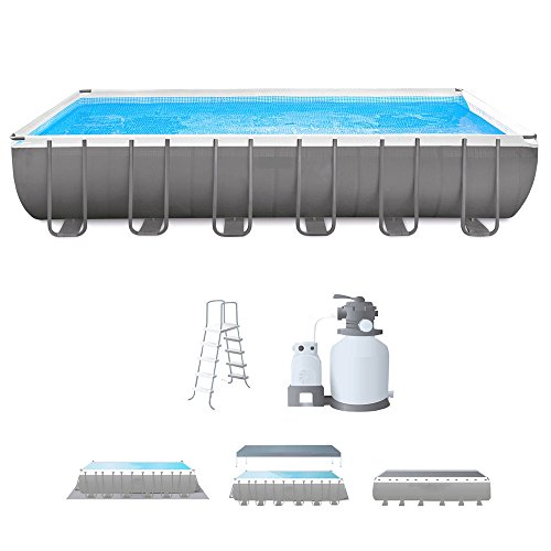 Steel-Frame-Pool-With-Filter-Pump-24-FT-Rectangular-Above-Ground-Swimming-Pool-Sand-Filter-With-Pool-Ladder-Ground-Cloth-And-Cover-Sturdy-Durable-Innovative-Frame-Debris-Cover-And-eBook-By-NAKSHOP-0