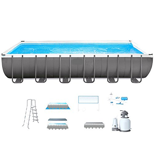 Steel-Frame-Pool-With-Filter-Pump-24-FT-Rectangular-Above-Ground-Swimming-Pool-Sand-Filter-With-Pool-Ladder-Ground-Cloth-Cover-Cleaning-Kit-And-Volleyball-Net-Sturdy-Durable-And-eBook-By-NAKSHOP-0