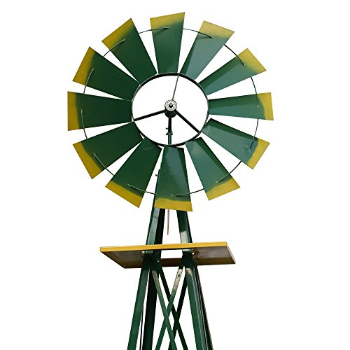 Super-Deal-8-Iron-Windmill-Ornamental-Garden-Weather-Resistant-Weather-Vane-0-0