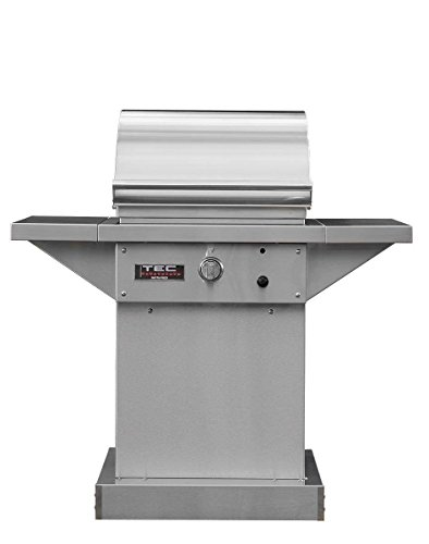 TEC-Sterling-Patio-1-FR-Infrared-Grill-on-Stainless-Steel-Pedestal-with-Two-Side-Shelves-and-Warming-Rack-STPFR1NTPED-PFR1WR-Natural-Gas-0
