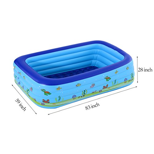 TYCGY-Adult-Childrens-Inflatable-Swimming-PoolFamily-Swimming-PoolLarge-Rectangular-Swimming-Pool-83-Inch-0-0