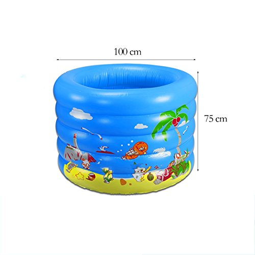 TYCGY-Childrens-Inflatable-Swimming-PoolRound-Swimming-Bucket-100×75-cm-0-2