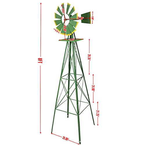 Tangkula-8FT-Windmill-Yard-Garden-Metal-Ornamental-Wind-Mill-Weather-Vane-Weather-Resistant-0-1
