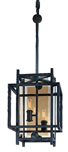 Troy-Lighting-Crosby-105-W-2-Light-Pendant-French-Iron-Finish-with-Topaz-Glass-0