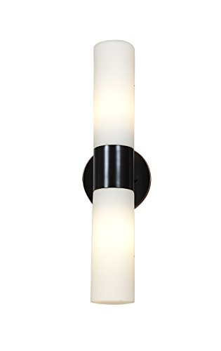 Two-Light-Opal-Glass-Alu-Outdoor-Wall-Light-0