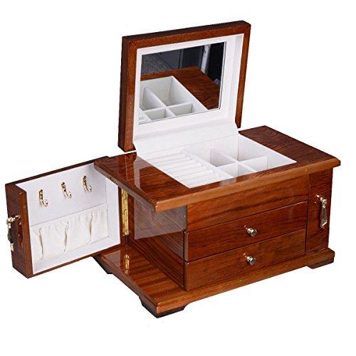 UBRTools-Best-Wooden-Jewelry-Case-3-Layers-Storage-Box-Necklace-Organizer-Display-Gift-0-1