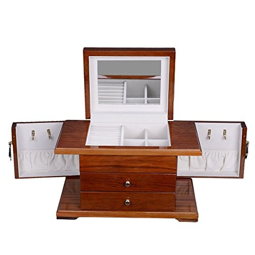 UBRTools-Best-Wooden-Jewelry-Case-3-Layers-Storage-Box-Necklace-Organizer-Display-Gift-0-2