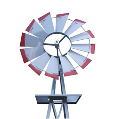 USA-Premium-Store-Metal-8FT-Windmill-Yard-Garden-Decoration-Weather-Rust-Resistant-Wind-Spinners-0-2