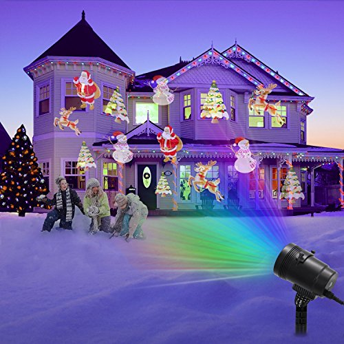 Upgraded-LED-Projector-Light-With-14-Interchangeable-Slides-Ebeet-Waterproof-Landscape-OutdoorIndoor-Spotlight-for-Halloween-Christmas-Thanks-Giving-Day-Birthday-Wedding-Party-Home-Decoration-etc-0-1
