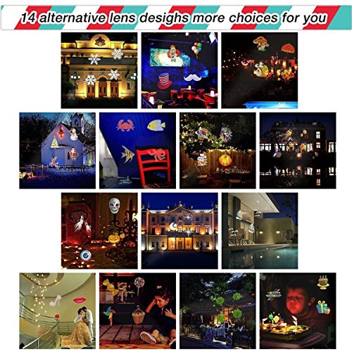Upgraded-LED-Projector-Light-With-14-Interchangeable-Slides-Ebeet-Waterproof-Landscape-OutdoorIndoor-Spotlight-for-Halloween-Christmas-Thanks-Giving-Day-Birthday-Wedding-Party-Home-Decoration-etc-0-2