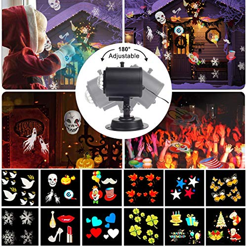 Upgraded-Version-Xmas-Halloween-Projector-LightTECKCOOL-3D-LED-Projector-with-Water-Wave-Light12-SlidesWaterproof-IP44Perfect-Gift-for-ChristmasHalloweenHolidayPartyLawnYardGarden-etc-0-0