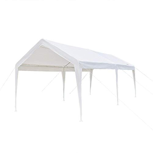 VINGLI-10-x-20-Heavy-Duty-Carport-Car-Canopy-wEdge-Cover-Car-Park-Anti-UV-Waterproof-Upgraded-Steady-Steel-Legs-Versatile-Garage-Vehicle-Shelter-White-0