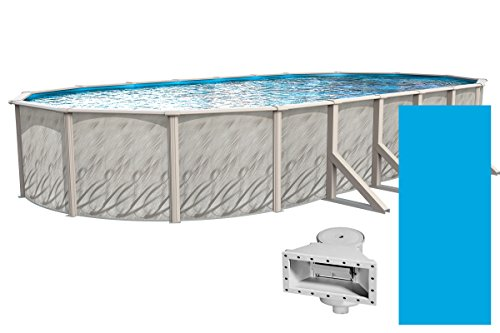 Wilbar-Meadows-Reprieve-12-Foot-by-18-Foot-Oval-Above-Ground-Swimming-Pool-52-Inch-Height-Resin-Protected-Steel-Sided-Walls-Bundle-with-Solid-Blue-Pattern-Overlap-Liner-and-Widemouth-Skimmer–0