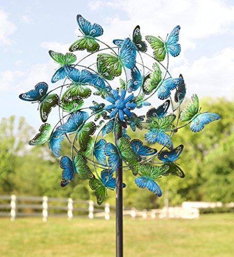 Wind-Weather-KA6925-Metal-Kinetic-Butterfly-Spinner-0