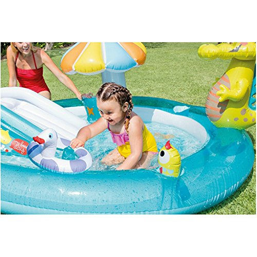 XiYunHan-Childrens-pool-Water-spray-Inflatable-swimming-pool-Paddling-pool-baby-Sand-pool-ocean-Ball-Pool-child-Slide-0-1
