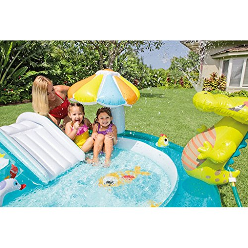 XiYunHan-Childrens-pool-Water-spray-Inflatable-swimming-pool-Paddling-pool-baby-Sand-pool-ocean-Ball-Pool-child-Slide-0-2