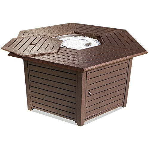 XtremepowerUS-42000-BTU-Propane-Hexagon-Patio-Fire-Pit-Table-wCover-0-2